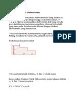 Hukum Dasar Fluida Statis
