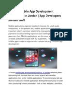 Mobile App Development Company in Jordan