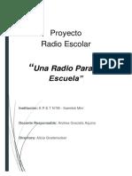 proyecto radio escolar. EPET 36-