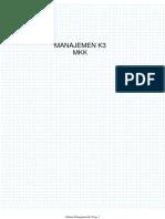 Manajemen K3 2020 terbaru