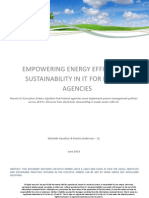 Empowering energy efficiency and sustainability in IT for federal agencies