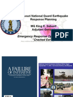 "Missouri National Guard Earthquake Response Planning Sidwell TAG Cracked Earth Brief for NMSZ Conference Emergency Response Operations Plan ""Cracked Earth"""