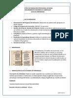 GUIA DE APRENDIZAJE ANALIZAR EL CONTEXTO SOCIAL 6-13 JUNIO