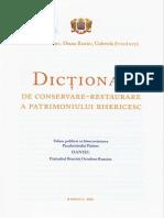 Dictionar de conservare-restaurare a patrimoniului bisericesc
