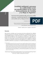 TC Institucionalidad ambiental y conflictividad social en Cordoba y La Rioja