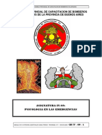 Asignatura Psicología de La Emergencia Consejo Provincial de Capacitacion de Bomberos Voluntarios de La Provincia de Buenos Aires