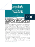 Aprendizaje Colaborativo vs Cooperativo