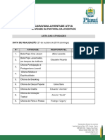 Lista de Oficinas - Pastoral da Juventude (Pedra Mole)
