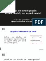 SESIÓN 17-DISEÑOS DE INVESTIGACIÓN