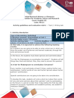 Activity guide and evaluation rubric - Task 2 - Writing task