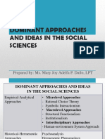 DISS - Lesson 5 - Dominant Approaches and ideas in Social Sciences