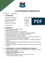 BASES PARA LA LICITACIÓN DEL QUIOSCO