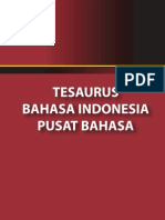 Tesaurus Bahasa Indonesia, Entri E