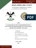 5. Catastro Urbano Como Factor Imp.Predial.Nacional Cuzco