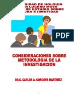 Carlos A. Córdova (Unviersidad de Holguín)._Metodología de la Investigación