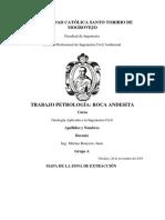 TRABAJO PETROLOGIA - ROCA ANDESITA