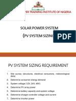 System Design Calculation