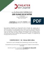 Wien DER KLEINE DICKE RITTER - THEATER DER JUGEND
