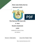 FINAL TRABAJO PROYECTO DE INVESTIGACION ACCION 2019