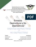 ensayos destructivos y no destructivos