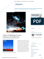 Types of Welding Process - Everyone Should Know - The Welding Master