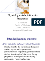 Adaptations to Pregnancy