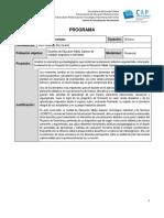 Programa proyecto de enseñanza