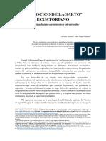 """EL """"HOCICO DE LAGARTO"""" ECUATORIANO. Entre desigualdades coyunturales y estructurales. Alberto Acosta y  John Cajas Guijarro"""