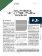 Arrendamientos NIIF 16 y Problemática Tributaria