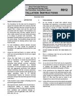 UL-142 R912 Installation Instructions