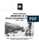 Hersh Mendel Memorie Di Un Rivoluzionario Ebreo (1902 - 1940)