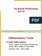 Crafting and Positioning of Marketing