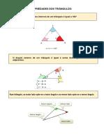 Algumas Propriedades Dos Triângulos