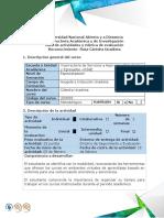 Guía de actividades y rúbrica de evaluación - Escenario 1 - Reconocimiento