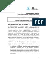 reglamento TFI