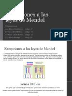 EXCEPCIONES DE MENDEL
