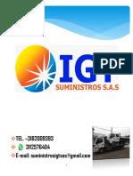 Portafolio de Suministros IGT