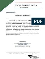 CONSTANCIA TRABAJO COMERCIAL EMANUEL nueva