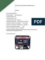 ESPECIFICACIONES TECNICAS DE UN GRUPO DE EMERGENCIA 10KW