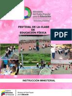 Instruccion Festival de la calse de educación fisica revisada