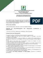Chamada de trabalhos RESAB - 2013_1