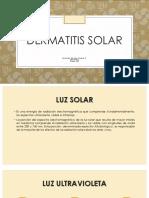 DERMATITIS-SOLAR
