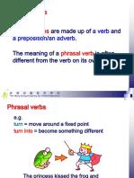 e. phrasal verbs