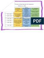 Schedule of Review for Basic Education Exit Assessment.docx