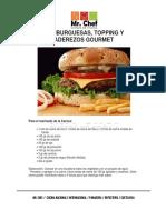 Recetarios Hamburguesas y Topping Gourmet