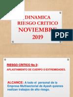 DINAMICA DE RIESGO CRITICO Noviembre 2019
