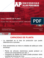 Tamaño de planta