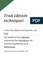 Trait (dessin technique) — Wikipédia