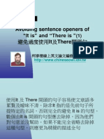 "[Conciseness]Avoiding Sentence Openers of ""It is"" and ""There is"" (1)"