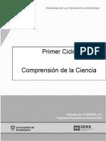 Plan de estudios Comprensión de la Ciencia Bachillerato Universidad de Guadalajara
